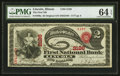 National Bank Notes:Illinois, Lincoln, IL - $2 Original Fr. 389a The First NB Ch. # 2126. ...