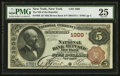 National Bank Notes:New York, New York, NY - $5 1882 Brown Back Fr. 469 The NB of the Republic of New York Ch. # 1000. ...