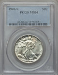 Walking Liberty Half Dollars: , 1940-S 50C MS64 PCGS. PCGS Population (1812/1647). NGC Census:(1390/940). Mintage: 4,550,000. Numismedia Wsl. Price for pr...