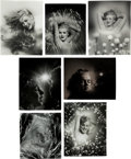 Movie/TV Memorabilia:Photos, A Marilyn Monroe Group of 'Psychedelic' Black and White Photographsby Andre de Dienes, 1945, 1980s.... (Total: 7 Items)