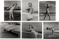 Movie/TV Memorabilia:Photos, A Marilyn Monroe Group of 'Bathing Suit' Black and WhitePhotographs by Andre de Dienes, 1945, 1980s.... (Total: 6 Items)