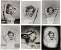 Movie/TV Memorabilia:Photos, A Marilyn Monroe Group of 'Arms Up' Black and White Photographs by Andre de Dienes, 1945, 1980s.... (Total: 6 Items)
