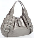 Luxury Accessories:Accessories, Roger Vivier Metallic Silver Leather Large Tote Bag. ...