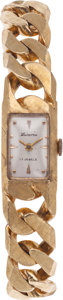 Estate Jewelry:Watches, Lucerne Lady's Gold Wristwatch. ...