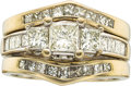 Estate Jewelry:Rings, A DIAMOND, WHITE GOLD RING SET. ... (Total: 3 Items)
