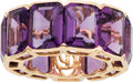 Estate Jewelry:Rings, Amethyst, Gold Ring. ...