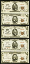 National Bank Notes:New York, New York, NY - $5 1929 Ty. 1 The National City Bank Ch. # 1461. ... (Total: 5 notes)