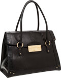 Luxury Accessories:Bags, Dolce & Gabbana Black Snakeskin Large Tote Bag with GoldHardware. ...