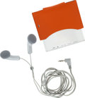 Luxury Accessories:Accessories, Hermes Portable Radio & Orange H Swift Leather Case withHeadphones. ...