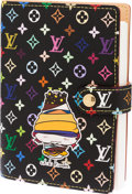 Luxury Accessories:Accessories, Louis Vuitton Black Monogram Multicolor Canvas Chibi Kinoko Agenda....