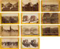 Photography:Cabinet Photos, Stereoviews Picturing Santa Fe, New Mexico, and Surrounding Areas.... (Total: 11 Items)