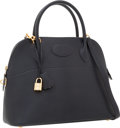 Luxury Accessories:Bags, Hermes 31cm Indigo Chevre Leather Sellier Bolide Bag with GoldHardware. ...