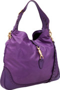 Luxury Accessories:Bags, Gucci Purple Leather Large Jackie Bag with Piston Closure. ...