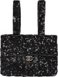 Luxury Accessories:Bags, Chanel Black Sequin & Crystal Trompe de l'Oeil Evening Bag. ...