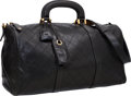Luxury Accessories:Travel/Trunks, Chanel Black Lambskin Leather Boston Overnight Weekender Bag. ...
