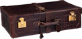 Luxury Accessories:Travel/Trunks, Gucci Stunning Shiny Brown Alligator Hardsided Suitcase. ...