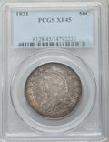 Bust Half Dollars: , 1821 50C XF45 PCGS. PCGS Population (84/388). NGC Census: (63/417).Mintage: 1,305,797. Numismedia Wsl. Price for problem f...