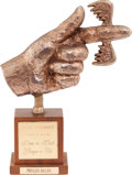 "Movie/TV Memorabilia:Awards, A Phyllis Diller 'Flying Fickle Finger of Fate' Award from ""Rowan& Martin's Laugh-In.""..."