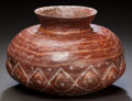 Pre-Columbian:Ceramics, A CHINESCO PAINTED VESSEL. c. 200 BC - 200 AD...