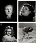 Movie/TV Memorabilia:Photos, A Marilyn Monroe Group of 'Sweater' Black and White Photographs byAndre de Dienes, 1945, 1980s.... (Total: 4 Items)