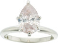 Estate Jewelry:Rings, Fancy Brownish Pink Diamond, White Gold Ring. ...