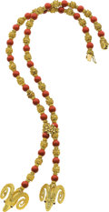 Estate Jewelry:Necklaces, Coral, Gold Necklace, Lalaounis. ...
