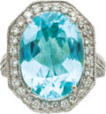 Estate Jewelry:Rings, Paraiba Tourmaline, Diamond, Platinum Ring. ...