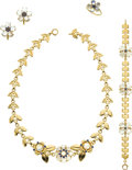 Estate Jewelry:Suites, Retro Moonstone, Sapphire, Gold Jewelry Suite, Tiffany & Co.....