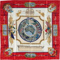 """Luxury Accessories:Accessories, Hermes Red, White & Blue """"Le Geographe,"""" by Sandra Laroche SilkScarf. ..."""