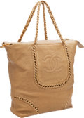 Luxury Accessories:Bags, Chanel Gold Antiqued Lambskin Leather Modern Chain Shoulder Bag....