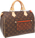 Luxury Accessories:Bags, Louis Vuitton Limited Edition Monogram Perforated Orange Speedy 30Bag. ...