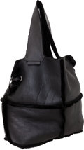 Luxury Accessories:Bags, Givenchy Black Shearling Oversize Runway Hobo Bag. ...