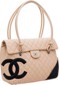 Luxury Accessories:Bags, Chanel Beige Lambskin Leather Cambon Large Flap Bag. ...