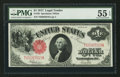 Fr. 39 $1 1917 Legal Tender PMG About Uncirculated 55 EPQ