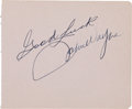 Movie/TV Memorabilia:Autographs and Signed Items, A John Wayne Signature, Circa 1950s....