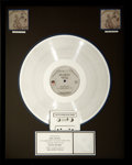 "Music Memorabilia:Awards, Metallica RIAA Platinum Record Award for ""...And Justice for All.""... (Total: 6 Items)"