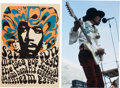 Music Memorabilia:Photos, Jimi Hendrix at the Miami Pop Festival Limited Edition Photo Printand Poster Group... (Total: 3 Items)