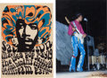 Music Memorabilia:Photos, Jimi Hendrix Miami Concert Photo Limited Edition Print #2/100 andPoster (1968).... (Total: 3 Items)