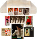 Music Memorabilia:Documents, Elvis Presley - A Personally-Owned Scarf and Other Items, Circa1970s.... (Total: 12 Items)