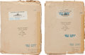 "Movie/TV Memorabilia:Documents, Two Lon Chaney-Related Scripts from ""While the City Sleeps.""...(Total: 2 Items)"
