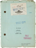 "Movie/TV Memorabilia:Documents, A Lon Chaney-Related Script from ""The Unknown.""..."