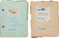 "Movie/TV Memorabilia:Documents, Two Lon Chaney-Related Scripts from ""Thunder.""... (Total: 2 Items)"