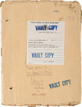 """Movie/TV Memorabilia:Documents, A Lon Chaney-Related Script from """"He Who Gets Slapped.""""..."""