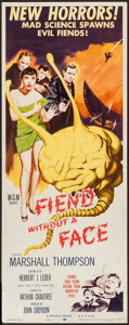 "Movie Posters:Science Fiction, Fiend without a Face (MGM, 1958). Insert (14"" X 36""). ScienceFiction.. ..."