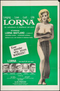 "Movie Posters:Sexploitation, Lorna (Eve Productions, 1964). One Sheet (27"" X 41""). Sexploitation.. ..."