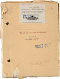 "Movie/TV Memorabilia:Documents, A Lon Chaney-Related Script from ""Tell It To The Marines.""..."