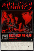 Music Memorabilia:Autographs and Signed Items, The Cramps Band-Signed Tour Poster for Look Mom No Head!(Restless, 1992)....