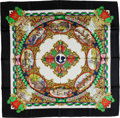 "Luxury Accessories:Accessories, Hermes Black, Gold, & Multi ""L'Entente Cordiale"" by Loïc Dubigeon Silk Scarf. ..."
