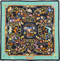 "Luxury Accessories:Accessories, Hermes Black & Multicolor ""Pierres d'Orient et d'Occident,"" byZoe Pauwels Silk Scarf. ..."