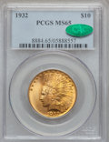 Indian Eagles, 1932 $10 MS65 PCGS. CAC....